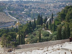 Church of St Mary Magdalene (left) and Church of Dominus Flevit on Mount of Olives (Seetheholyland.net)