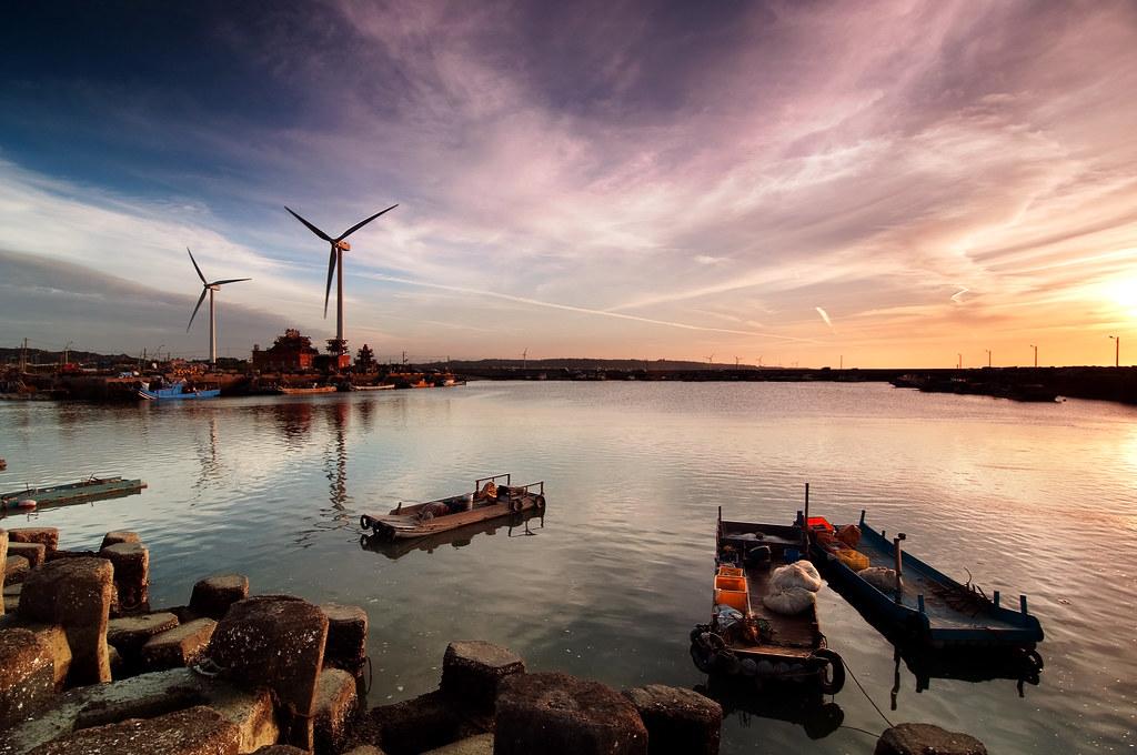 海山漁港 風車風情