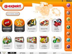 Expekt Casino Lobby