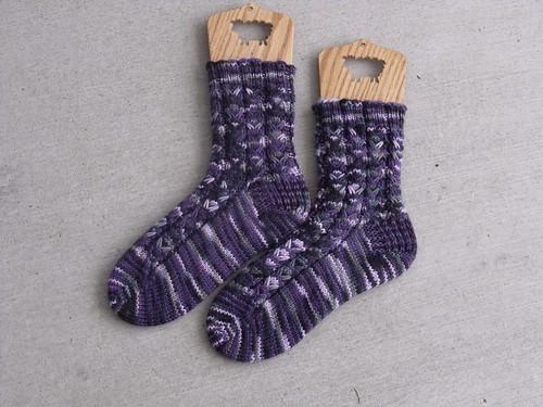 Slip Stitch Cable Socks