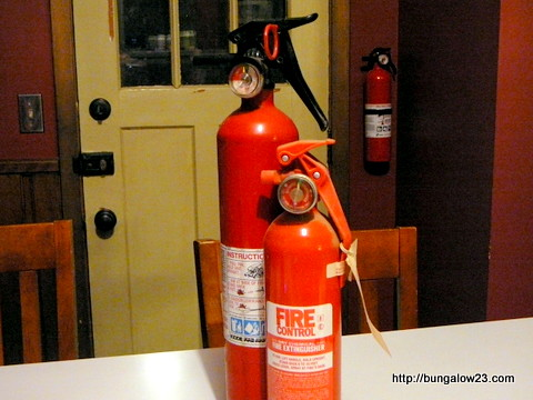 Old and new extinguishers