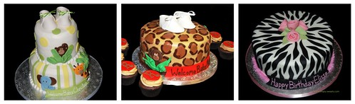 Leopard Print Jungle Animal Baby Shower Cake Inspirations