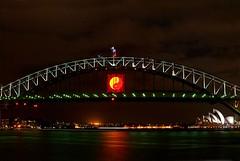 Harbour Bridge NY2010 (leonsidik.com) Tags: ocean bridge sea water lights glow sydney australia led leon operahouse harbourbridge sidik