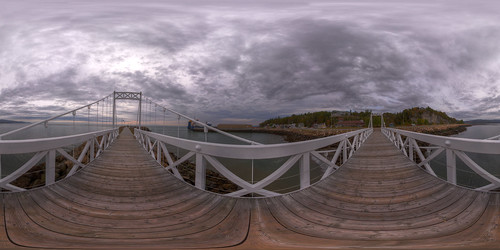 Bad Bay Bridge 2 - Pano in La Malbaie, Quebec
