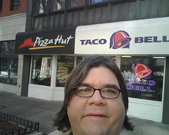 I'm at the Combination Pizza Hut and Taco Bell