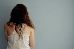 Caitlyn (elanorjarque) Tags: blue red brown color girl hair back skin fair tanktop