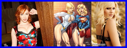 sexy comic Hot power girl