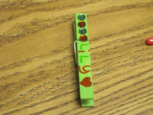 Another cute clothespin ready to go on it's necklace