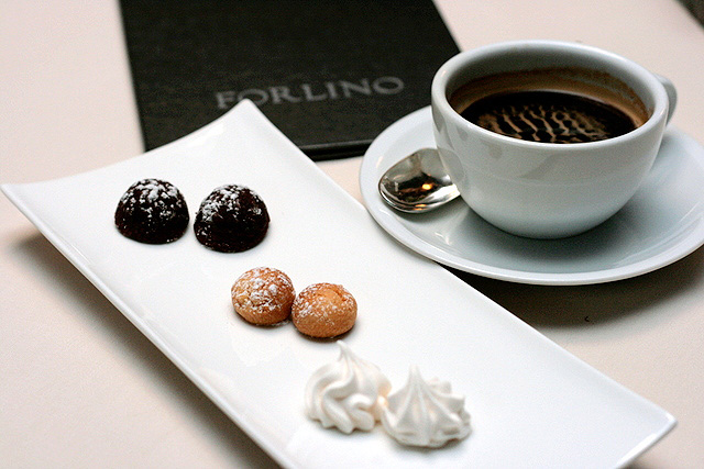 Fabulous Italian coffee and petit fours