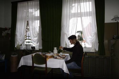 Solo-breakfasting in Rendsburg, Schleswig-Holstein - Germany.