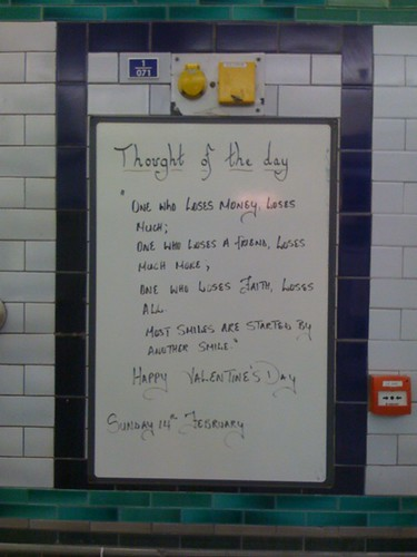 Valentine's message at Clapham North by sweetpea