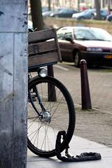Ff (Iam Marjon Bleeker) Tags: holland amsterdam bike bicycle canal locked ff gracht amsterdammertje