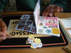 H's sticker book