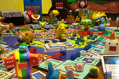 53/365 Domo's get Invited to a Pokemon Monopoly Party (Chris Gritti) Tags: dice toys board games monopoly domo pokemon 365 53365