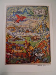 SNOW QUEEN'S REALM (Mumu X) Tags: snow vintage map postcard queen realm reprint