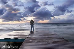 SeaSide & LoneLiness (aliaydogmus35) Tags: blue sunset cloud beach clouds canon seaside long exposure alone sad wave single wharf 1855mm deniz iskele izmir yalniz yalnz dalga gn batm mywinners platinumphoto eos500d sahilevleri theunforgettablepictures aliaydogmus mygearandme mygearandmepremium mygearandmebronze mygearandmesilver mygearandmegold mygearandmeplatinum