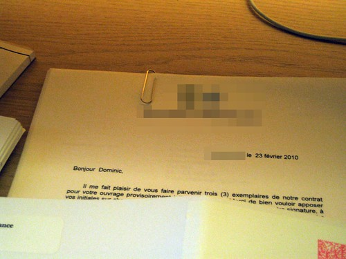 Un contrat d'édition