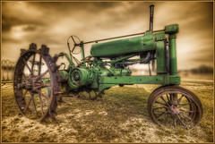 ~ Back In Time ~ (Rob Hanson Photography) Tags: old tractor green sepia nc nikon rust antique farm explore legacy hdr deere johndeere farmequipment wwh riggs cs4 pollocksville d90 photomatix tonemapping tonemap backintimemuseum exploremedarnit