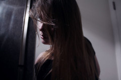 held breath (Alexandra Moskow) Tags: portrait selfportrait alex girl self hair bathroom focus honest inside