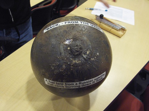 Soviet satellite fuel tank