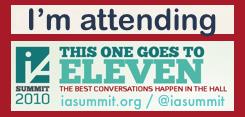IA Summit Banner 2010