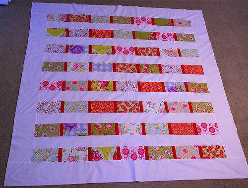 My quilt progress (top done!)