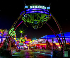 Tomorrowland (Todd Hurley (Todd_H)) Tags: longexposure nightphotography family vacation colors fun lights orlando neon florida mickeymouse waltdisneyworld tomorrowland hdr highdynamicrange waltdisney lakebuenavista themagickingdom canon2470f28l nikcolorefexpro starlighteffect canon5dmark2 thhphotography toddhurley