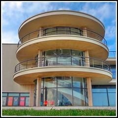 De La Warr Pavillion, Bexhill on Sea, East Sussex (Paul @ Doverpast.co.uk) Tags: england building architecture stairs sussex curves steps stairwell coastal squareformat historical artdeco modernist 1935 listedbuilding bexhill gradei modernmovement delawarrpavilion sergechermayeff erichmendelsohn felixsamuely