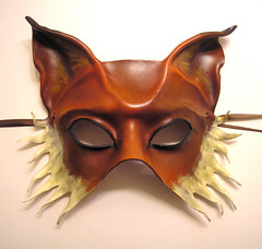 Fox Half Face Leather Mask by Teonova (teonova) Tags: new carnival dog cats black sexy rabbit art halloween leather animal animals cat dark foxy costume wings furry orleans wolf punk mask bat wing caroline horns steam masks fantasy fox carnivale devil furries venetian handcrafted masquerade gras pan mardigras burlesque foxes mardi satyr sculpted pagan anthropomorphic steampunk horned molded leathermask guyer leathermasks teonova