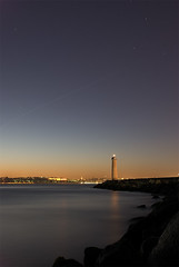 Lighthouse - II (Aziz nsal) Tags: longexposure sunset lighthouse night turkey geotagged istanbul boazii marmara citynight citynights denizfeneri thebosphorus uzunpozlama istanbullovers