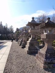 Les lanternes en pierre à Nagano