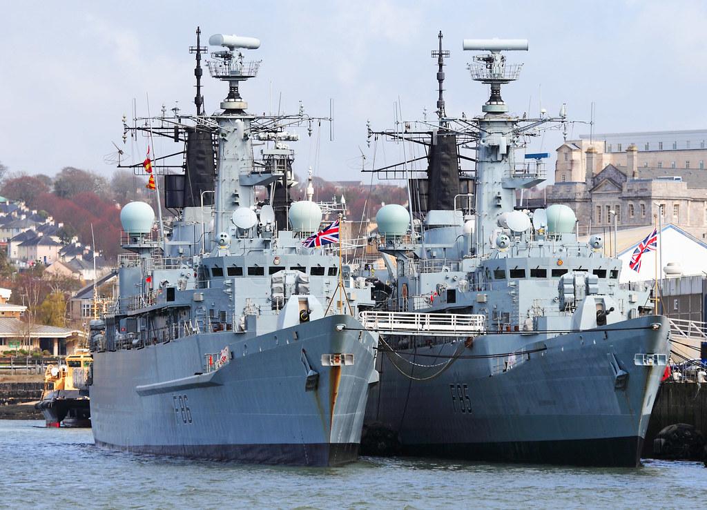 Type 22 Frigates - HMS Cambletown (F86) & Cumberland (F85)
