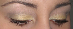 mashmallow eggnog (AxSDenied) Tags: brown yellow grey makeup pale mineral cosmetics eyeshadow shimmer eotd aromaleigh