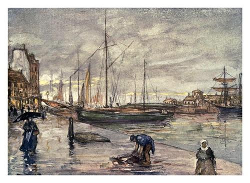 019- Escena de Cherbourg en Normandia-Normandy-1905- Ilustrado por Nico Jugman