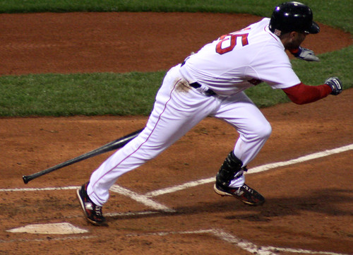 Pedroia breaks out of the box