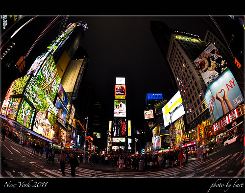 Times Square at night by BartPalka