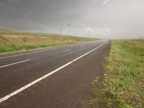 Riding in the hail
