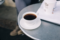 Coffee (borishots) Tags: coffee coffeetime coffeeshop coffeelover black blackcoffee analog retro vintage grain fujifilmx100s vsco bokeh oslo norway scandinavia coffeecup coffeemug white perspective