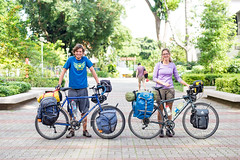 Matt and Lauren Touring Asia (Tatyana Kildisheva) Tags: cycling cyclinginasia warmshowersorg cyclist singapore cycletouring bike travel matt lauren dsc4430
