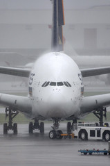 Typhoon Battered A380 (caribb) Tags: travel storm rain japan plane nose tokyo flying nikon asia wind aircraft aviation airplanes profile transport jet cockpit aeroplane transportation airbus a380 airship   avio flugzeug sq  aeroport airliner avion jetplane nrt vliegtuig singaporeairlines jetliner naritaairport  planespotting  aroport  passengerplane d90 aeroplano  passengerjet tokyoairport  doubledeckker arogare a380800  a388 a380841 grosporteur widebodyjet 9vskc longrangejet twinaislejet aircraftpicture jnrt typhoonkrovanh