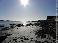 Iona beach sunlight
