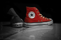 A Piece Of History (MJ ♛) Tags: new old red white black history canon eos star shoes efs1855mm converse 1855mm piece majid efs alahmadi 40d ماجد platinumphoto الاحمدي