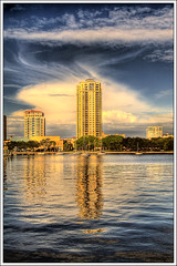 St Petersburg Morning (tebographics) Tags: skyline clouds reflections stpetersburg florida highrise hdr cloudscapes pinellascounty bej abigfave platinumphoto flickrdiamond eliteimages