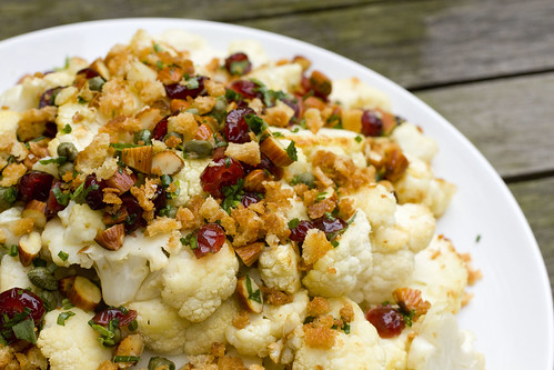 Cauliflower with Almonds, Cranberries, and Capers 2