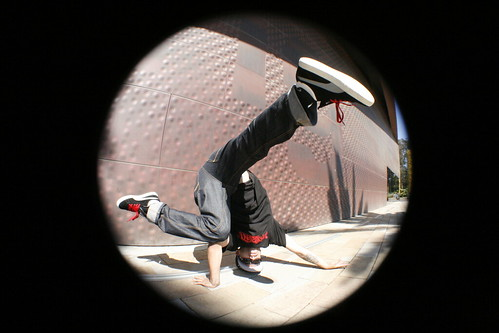 B-boy with Fisheye Lens
