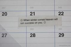 Calendar Marked (314 / 365)