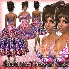 Hawaiian Dress (Red-multi)