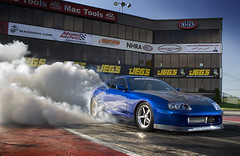Accelerated Performance Supra Burnout 1 (Jeff Creech) Tags: blue reflection magazine interior cover toyota burnout tuner import feature supra rollcage 1000hp