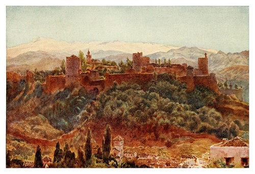 029-Granada- La Alhambra-Cathedral cities of Spain 1909- W.W Collins
