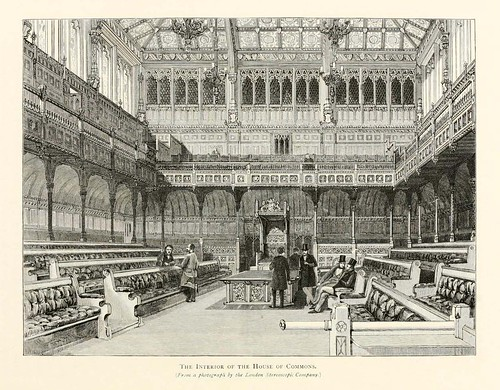 022-Interior de la Camara de los Comunes- London pictures drawn with pen and pencil 1890-Richard Lovett
